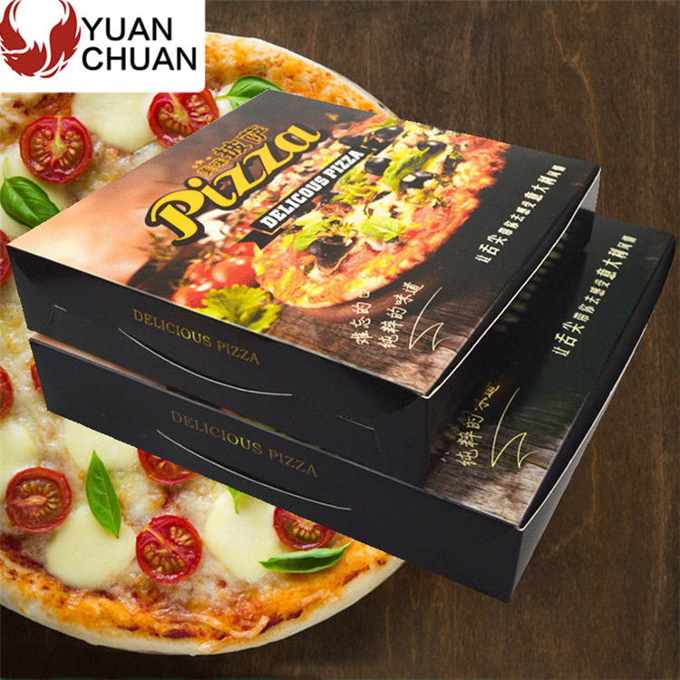 Disposable food cardboard paper pizza container