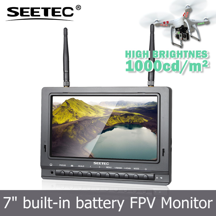 "Multiple installation ways 7"" FPV monitor aerial photography channel auto searching 2015 remote control helicopter"
