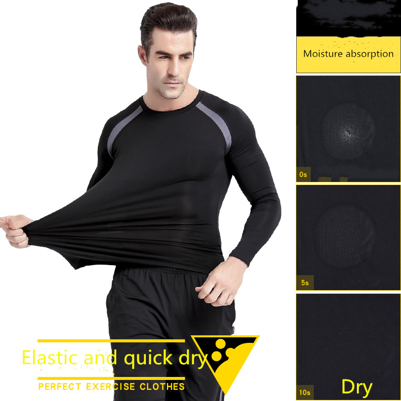 2020 custom men long sleeve active sportswear fitness yoga sports wear gym clothing with 3 piece in set