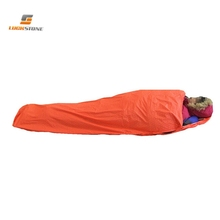 1 Person Outdoor Camping Mummy Style Inflatable Reflection Warm Emergency Sleeping Bags