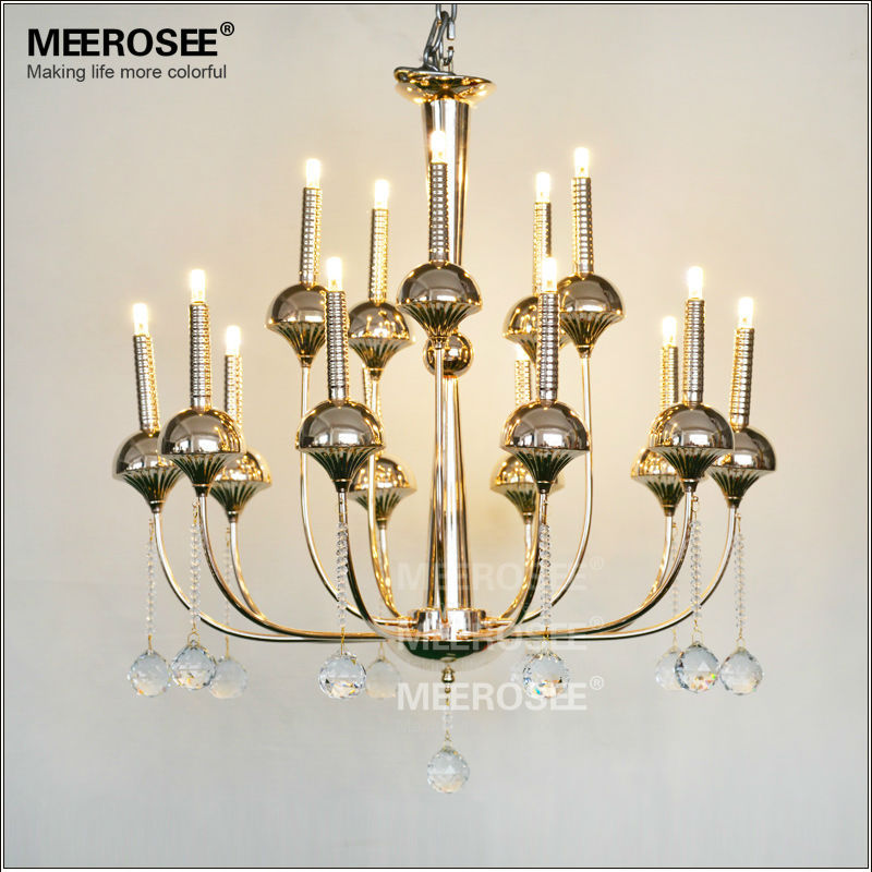 Abstract 15 Light Modern LED Crystal Chandelier with Remote Control MD18828 L15
