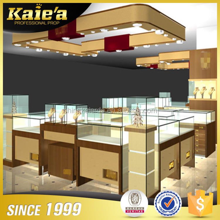 China custom Made Luxury Modern jewelry store display Shop Interior Design