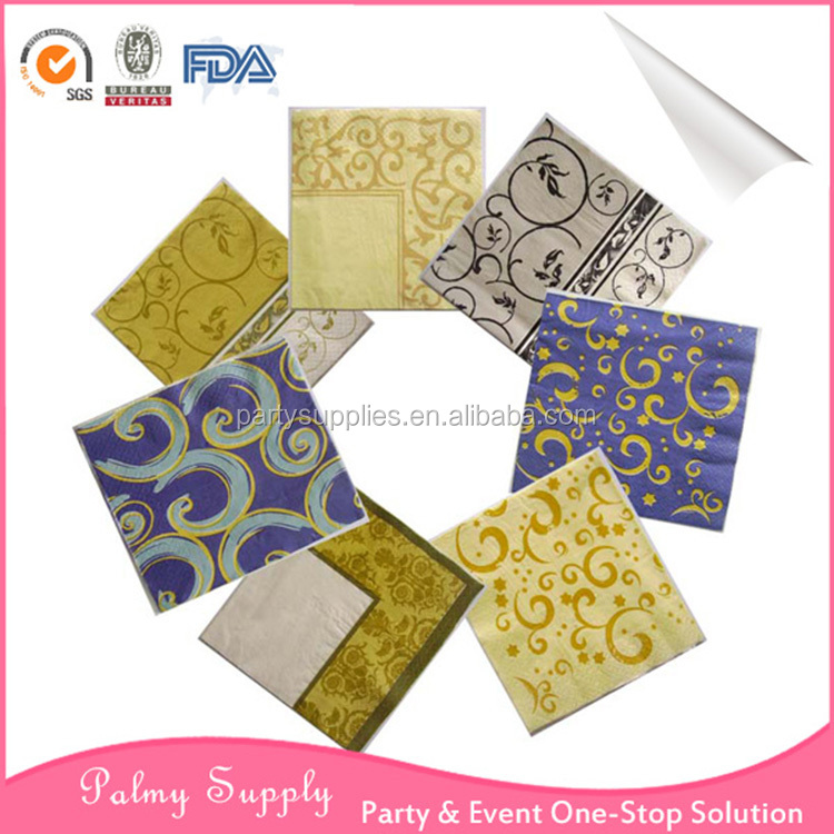 Pkg #1. Art Supplies Active Variety Pack Of 6 Paper Napkins For Decoupage From Yellow Dress Crafts
