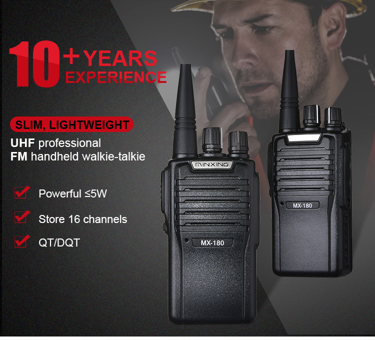 Optimized Price High Power Long Range 16ch Uhf 400-470mhz Most Powerful Features Handheld Wireless Walkie Talkie