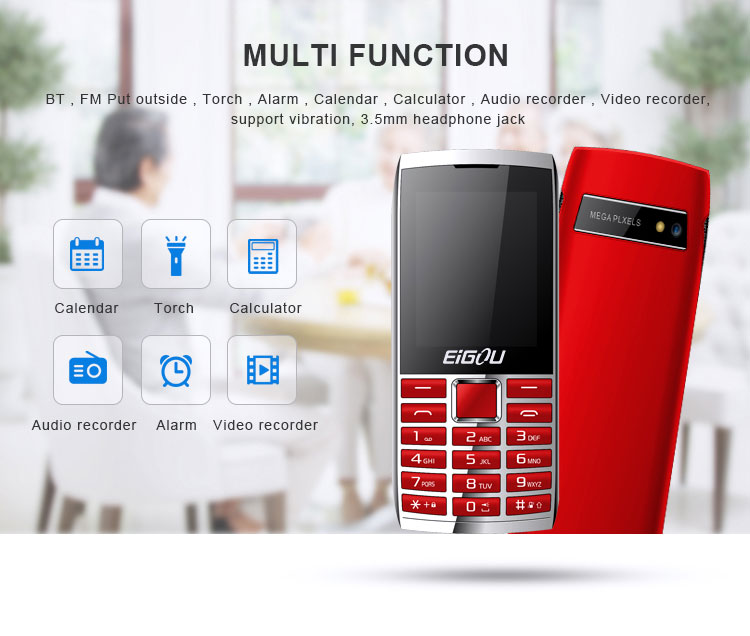 Feature Phone Factory Wholesale Very Cheap Mobile Phones In China Old Man Mobile Phone