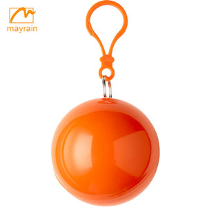 Promotional Disposable Rain Poncho In Balls For Gifts