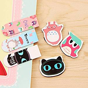 Katoot@ 4 set/lot Cartoon Totoro magnetic bookmarks for books Kawaii Owl Cat book marker animal paper clips office school supplies