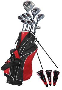 Precise AMG Men's Complete Golf Club Set, Left Hand, Black/Red