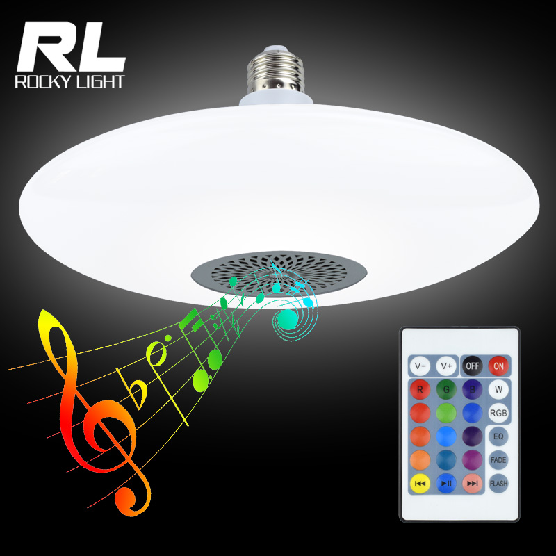 25w+5w led RGB music bulb lamp E27 wireless bluetooth stage lighting bulb with remote controller