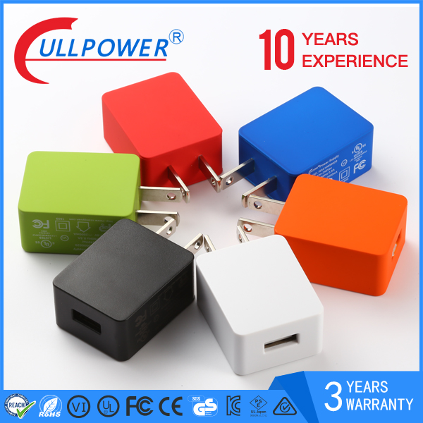 2017 Hot products 5v 1a 2a 2.1a 2.4a universal mobile cell phone travel adapter usb charger