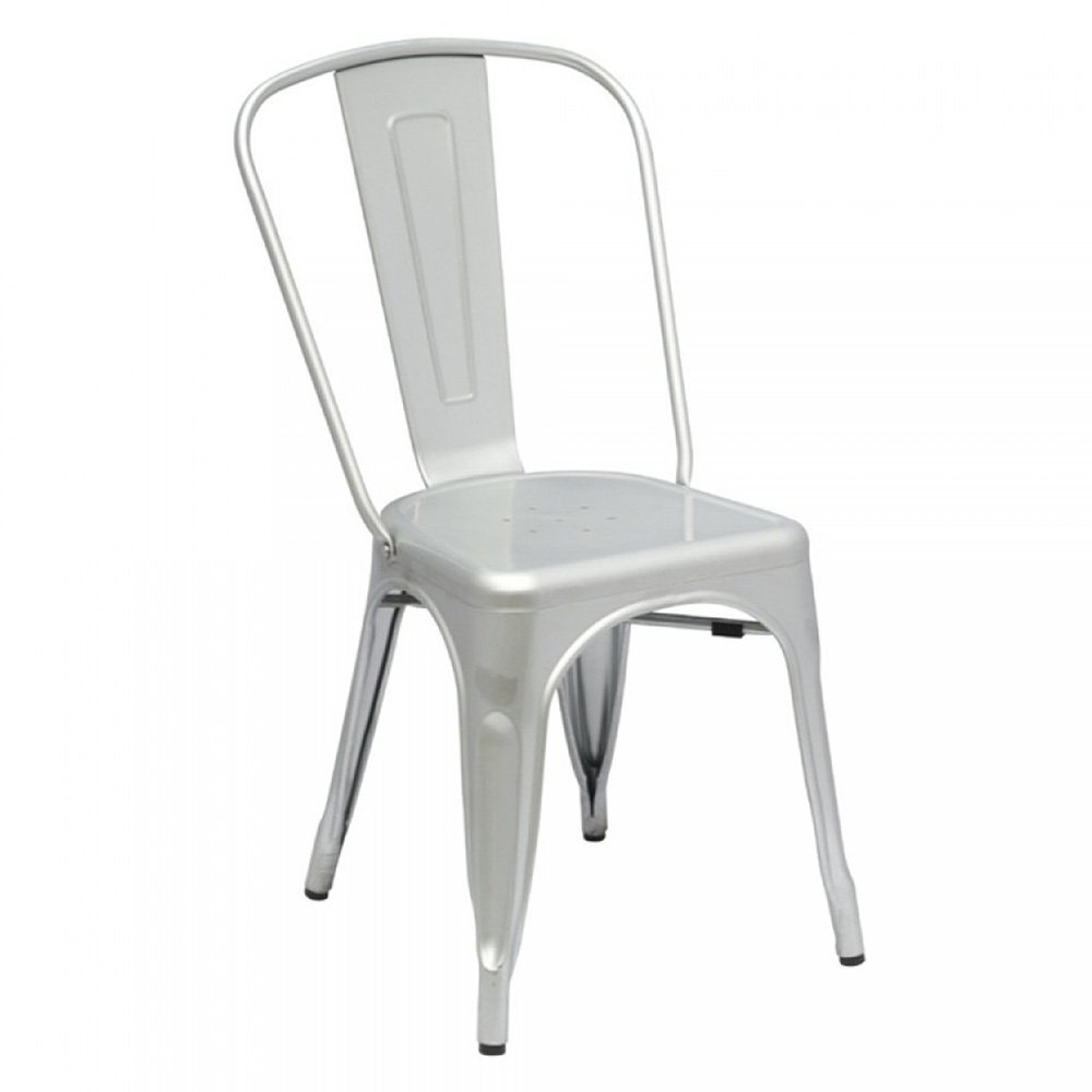 Get Quotations · Designer Modern Elio Tolix Chair In Silver Set Of 2