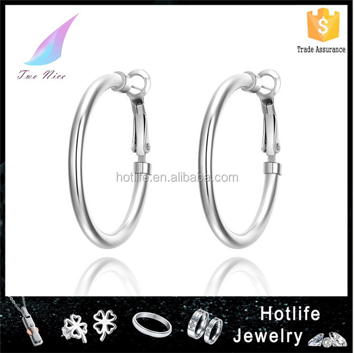earing stud new arrival 2016 stainless steel loop earring