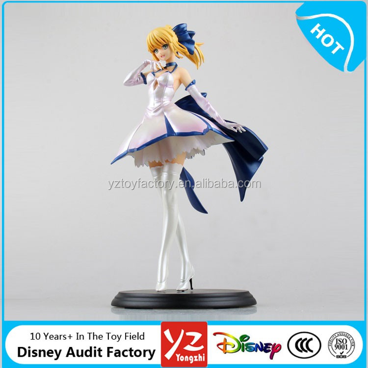 26cm high quality and finest poly resin material white dress Fate/stay night Sabe action figure new in box