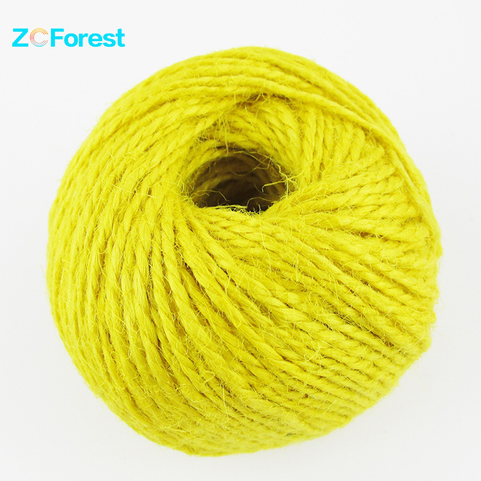 100M/Roll 1.5mm Thick Jute Rope Hemp String Crafts Natural Jute Twine Cord Yellow Hemp Twine Crafts DIY Manual Hemp Cord Ball
