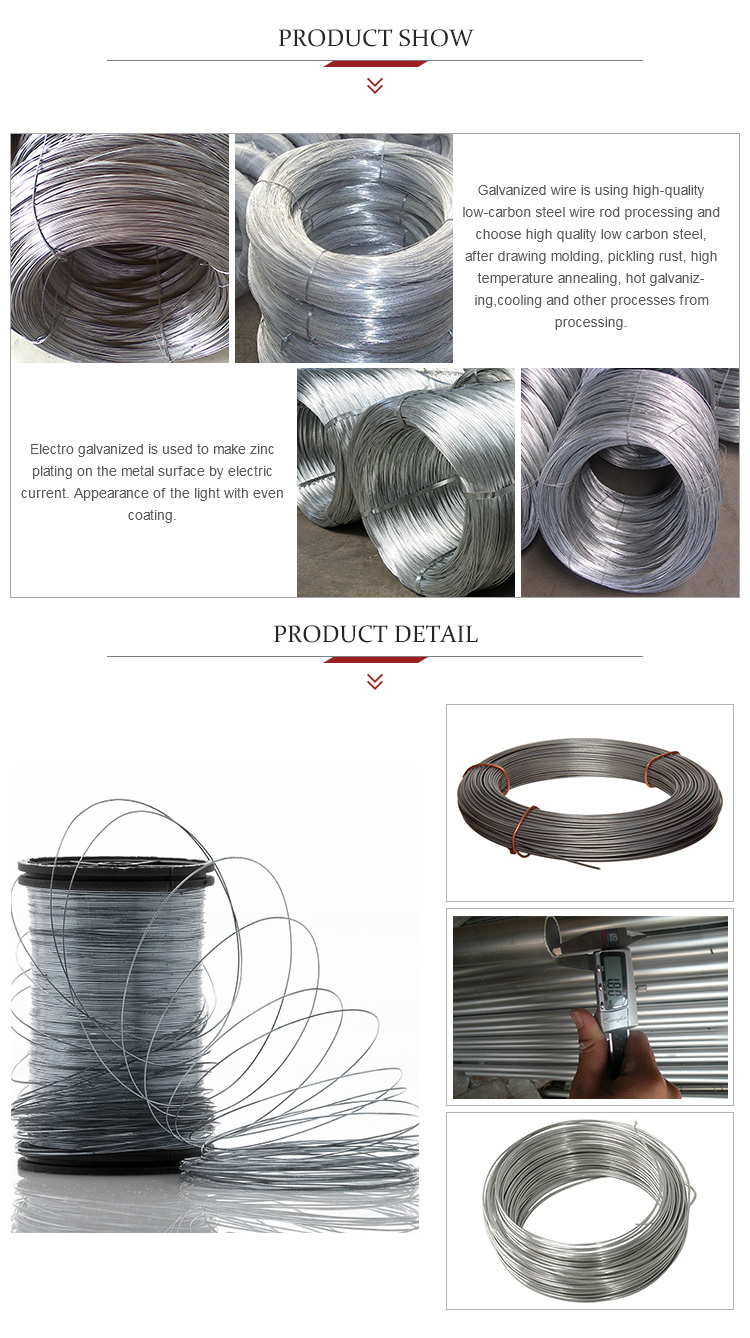 1.85mm Electro Galvanized Steel Hanger Wire Electric Fence Wire ...