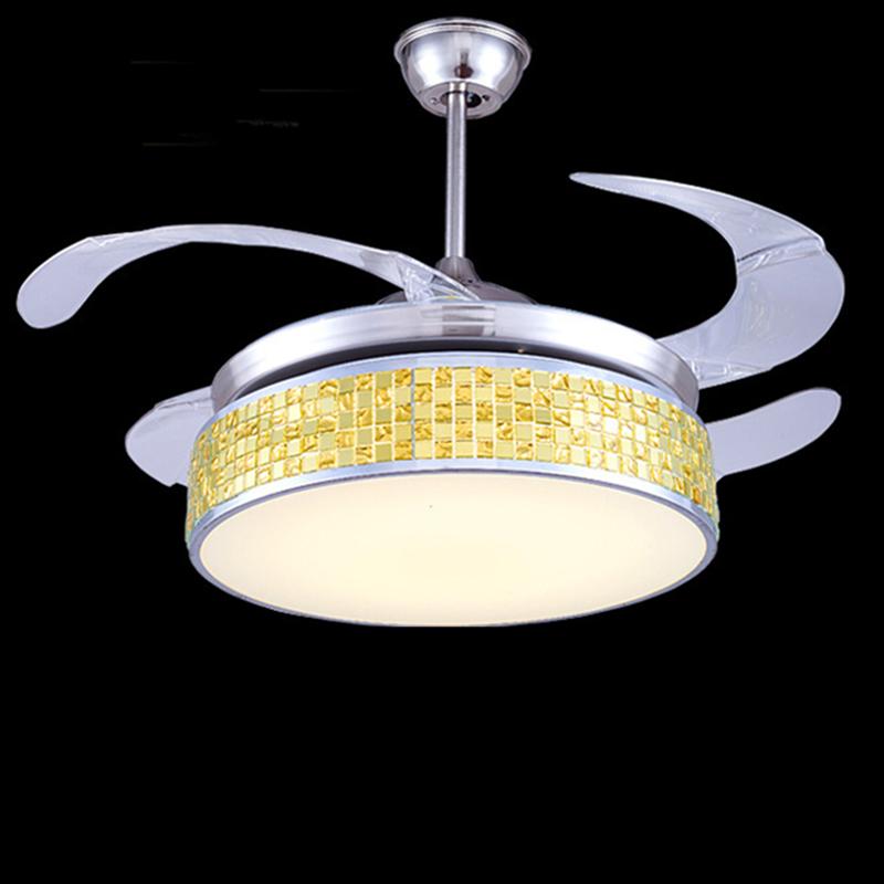 Led plafoniera lusso ventaglio pieghevole luci illuminato for Lampadario ventaglio