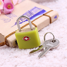 TSA-385 Travel luggage approved safe small brass key TSA padlock