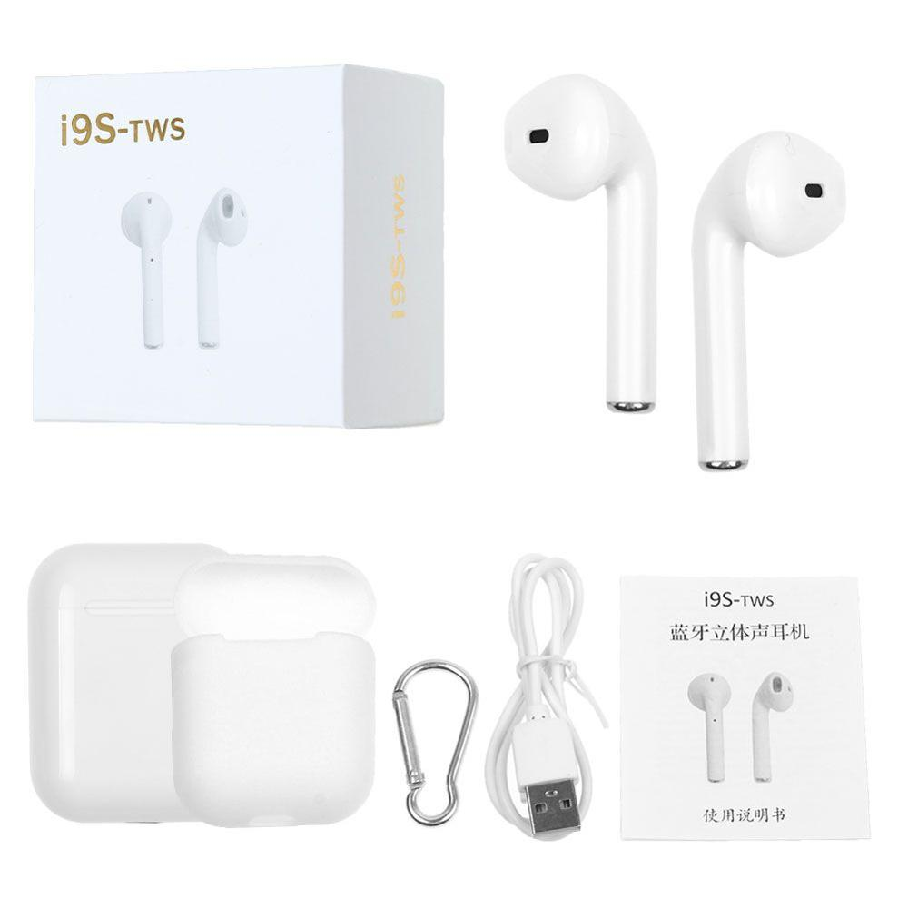 i9s tws wireless headphone bluetooth V4.2 earphone wireless earbuds sport headset With Package For Iphone XS / XS Max