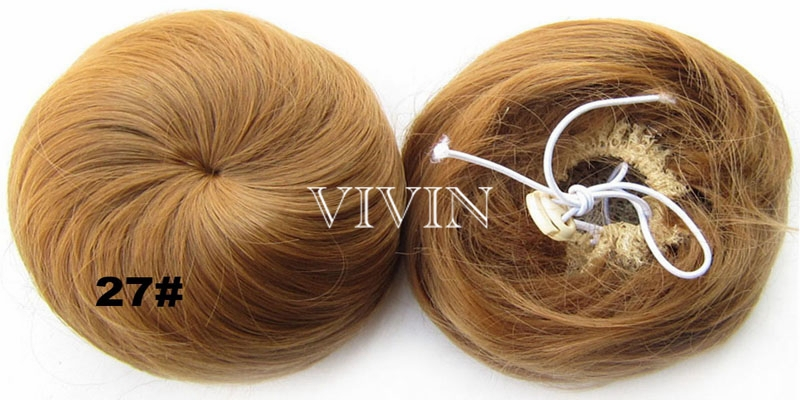 14 цветов синтетические роликовые шиньоны Donut бун волос Chignon синтетические волосы булочки парик бесплатная доставка VH045