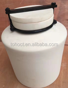 Porcelain 99--99.7% High alumina ceramic ball mill grinding jar with lid