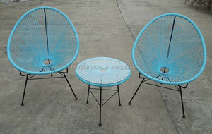 Stock cheap Garden furniture outdoor rattan chairs table on sale, acapulco chair, garden rattan furniture chair