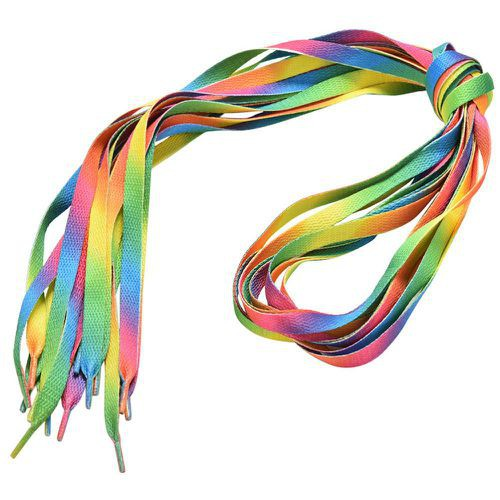 5Pairs Shoe Laces Strings Strap Rainbow Shoelace Sports Shoe Laces Strings Top
