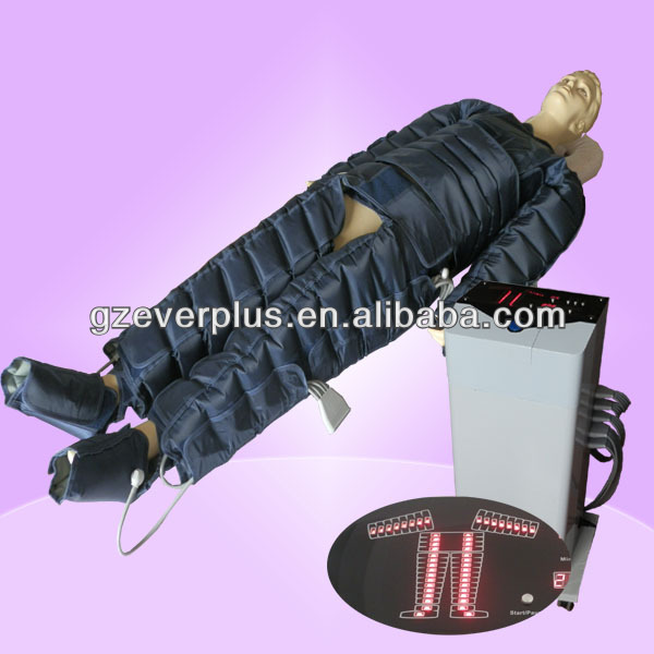 Standing air compression therapy system