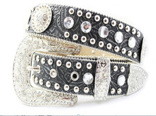 Woman Fahion Leather belt Genuine leather belt Rhinestone sash belts