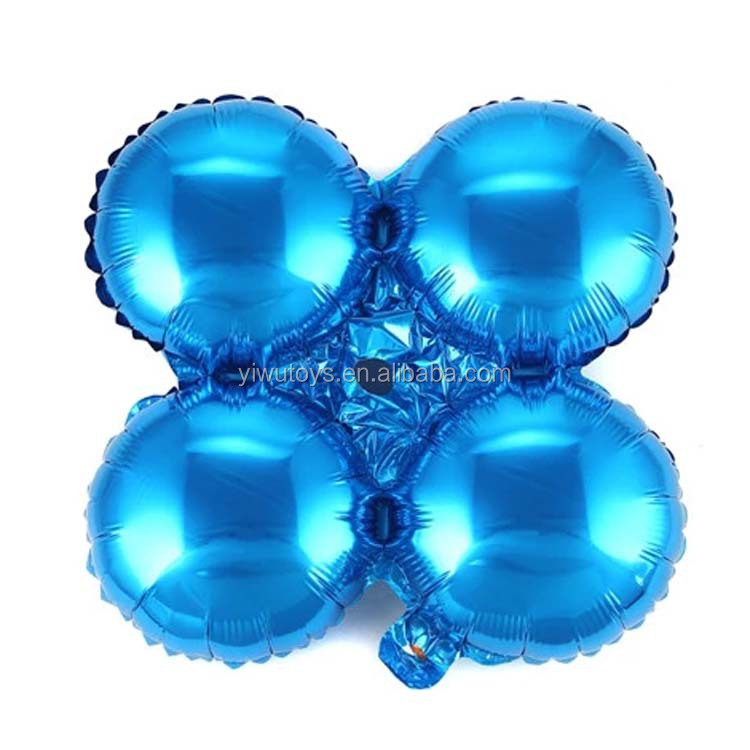 Cheap round metallic nylon blue balloon arch stand