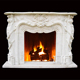 High Workmanship Popular marble fireplace hearths