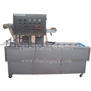 Chunlai BG-2 Lunchbox Sandwich Box Vegetable Fruit Packing Film Cut Around Container Heat Seal Linear Type Tray Sealing Machine