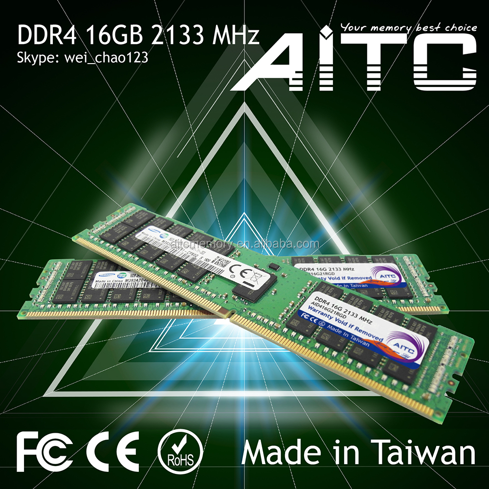 High performance AITC rdimm 2133mhz 16gb ddr4 ram for server