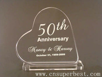 Personalized Anniversary Acrylic Heart Cake Topper Gifts