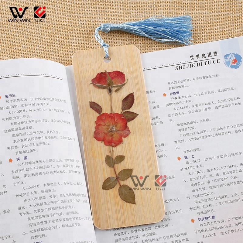 Wholesale Wooden Decorate Craft Custom Bamboo Wooden Bookmark