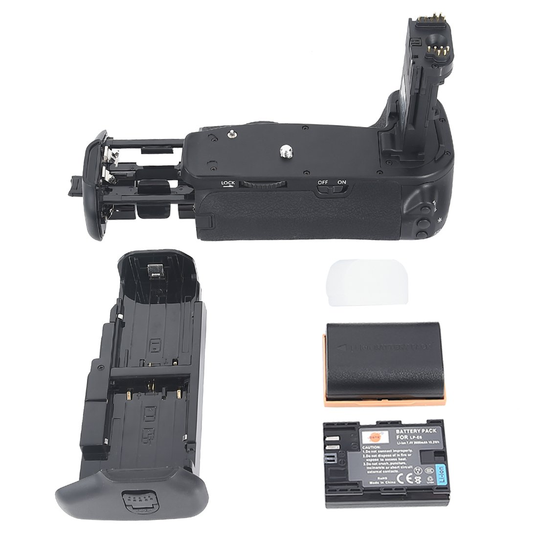 DSTE® Pro BG-E13 Vertical Battery Grip + 2x LP-E6 for Canon EOS 6D SLR Digital Camera