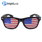 2019 Hot Sell Lens Printing Sunglasses With Custom Logo Lens Pinhole Sticker Falg Printing Custom Flag Crazy Party Sunglasses