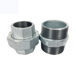 Male and Female threaded malleable iron fittings union with brass seat Iron pipe fitting brass union coupling malleable conical