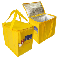 Promotional non woven insulated yellow cooler bag
