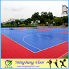 badminton/tennis/volleyball/futsal multi-purpose outdoor sport interlocking floor