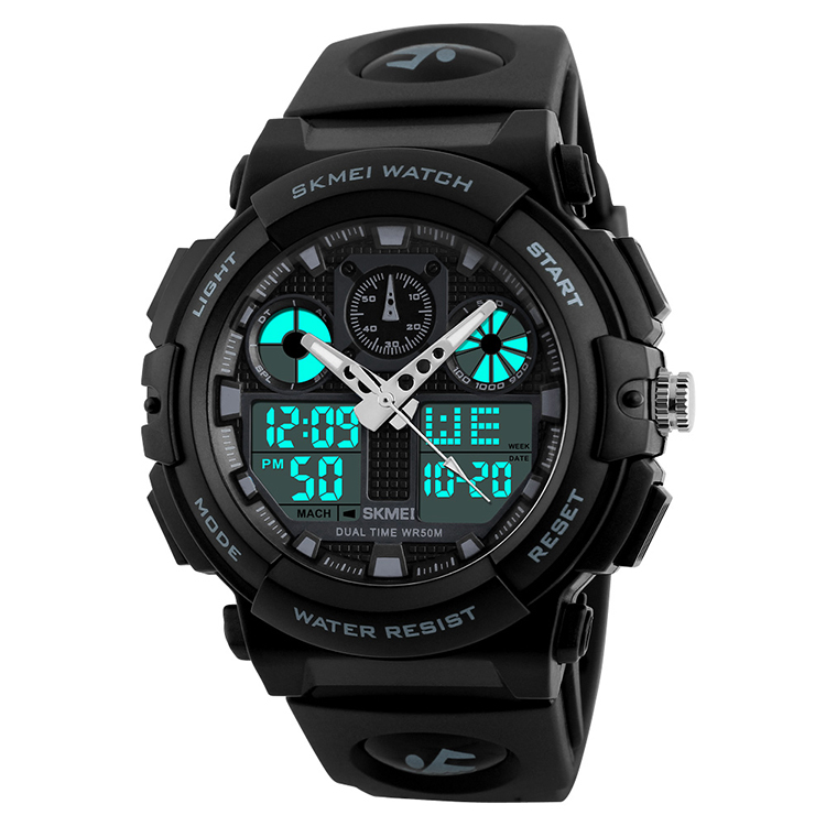 Wholesale Skmei 1270 Best Selling Dual Time Watch Case Waterproof Watch Wristwatches Relojes Al Por Mayor Orologio, 5 colors