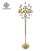 New Design Indoor Crystal Gold Floor Lamp Decorative Standing Candle Light
