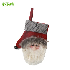 "7 "" Promotion santa snowman mittens decor ornaments christmas foil hanging decoration"