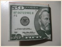 $50 Dollar Bill Money pattern/print Canvas bi-fold Wallet (NEW)