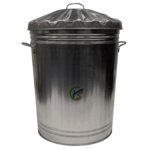 90 litre galvanized metal garden outdoor storage dustbin