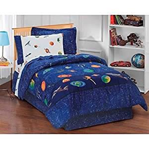 Sleep With The Stars Space Galaxy Full 8 Piece Bed In A Bag With Sheet