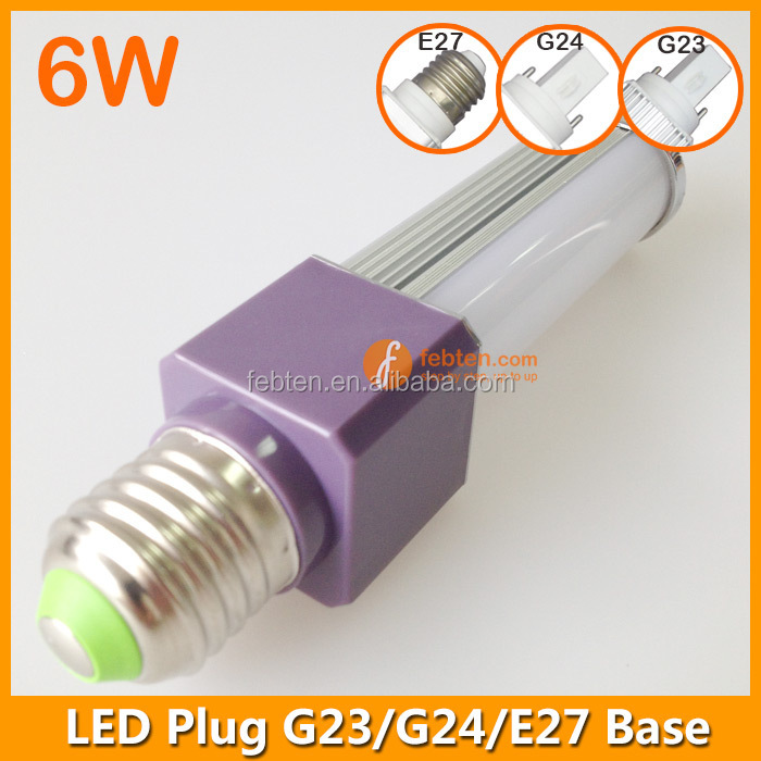 G24 Plug Light SMD5730 6W LED Tube Lamp