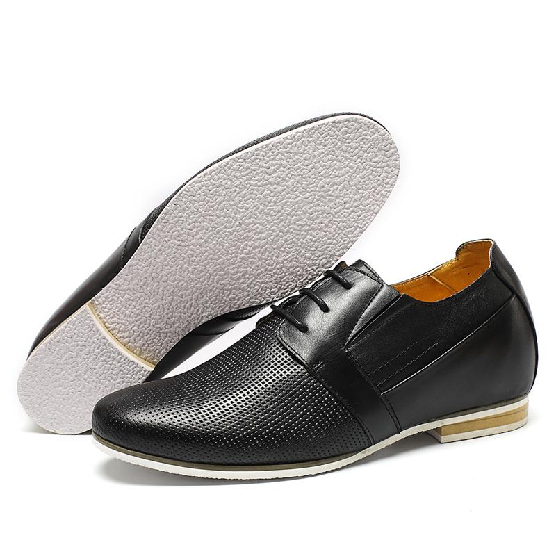 Shoes Brand classy Customized Black Men Genuine leather Dress FCwCWqS