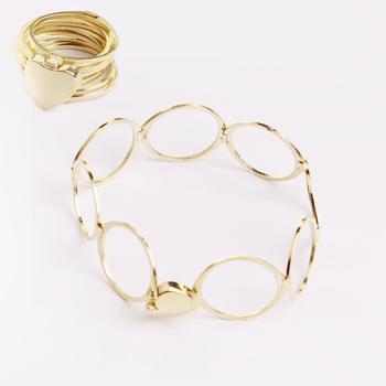 14k Gold Double Usage Slave Bracelet Astros Design Pictures Engagement Rings Smart Ring