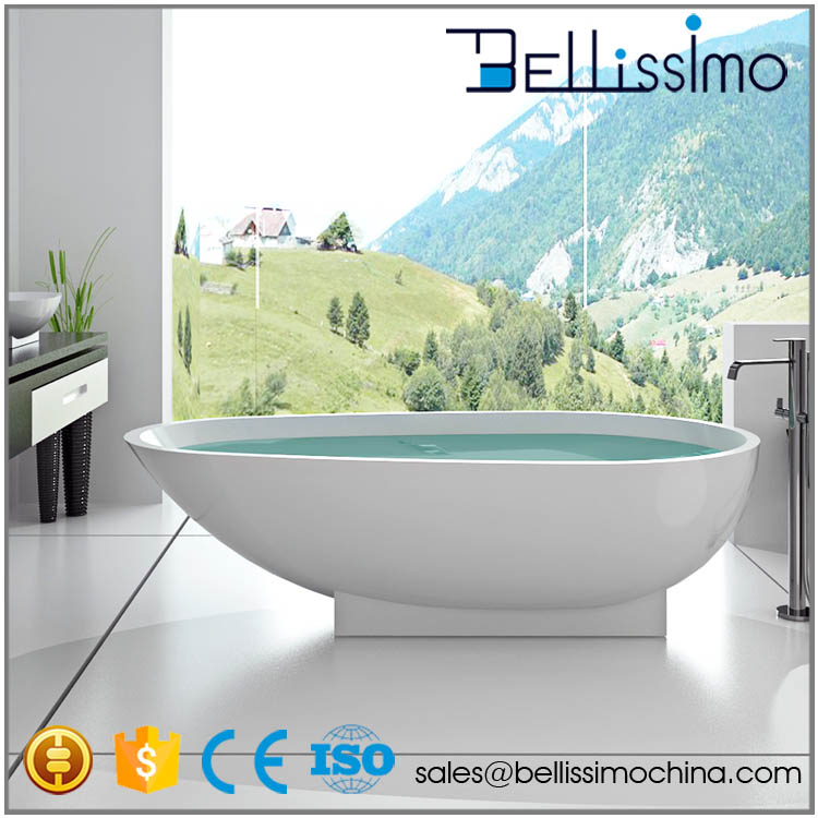 Angular Sitting Granite Solid Surface Bathtub BS-8616