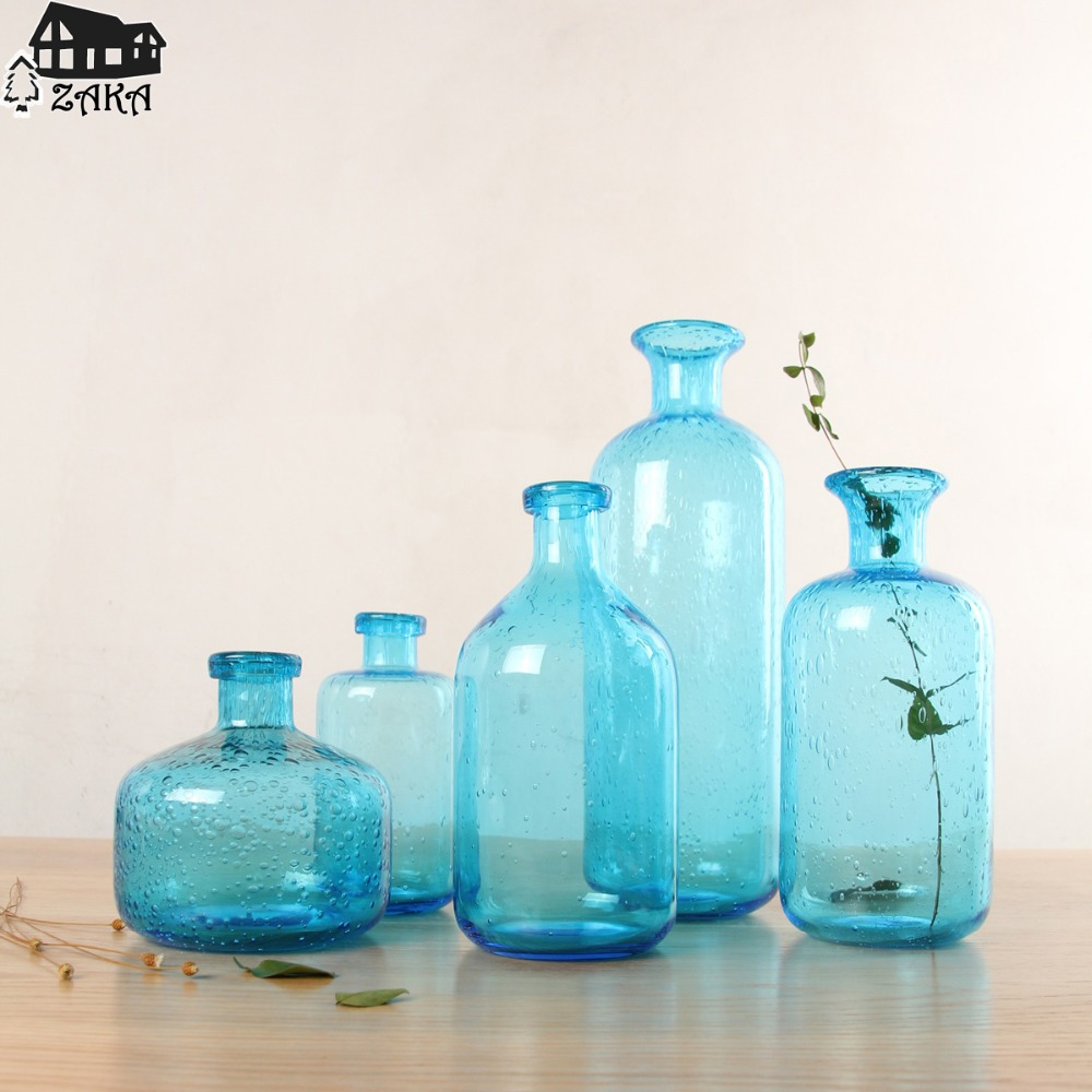 Online Buy Wholesale Blue Glass Vases From China Blue